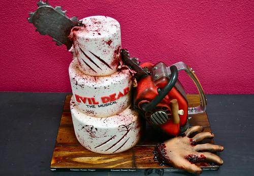 Evil Dead Chainsaw Cake Gimme Some Sugar Vegas Flickr