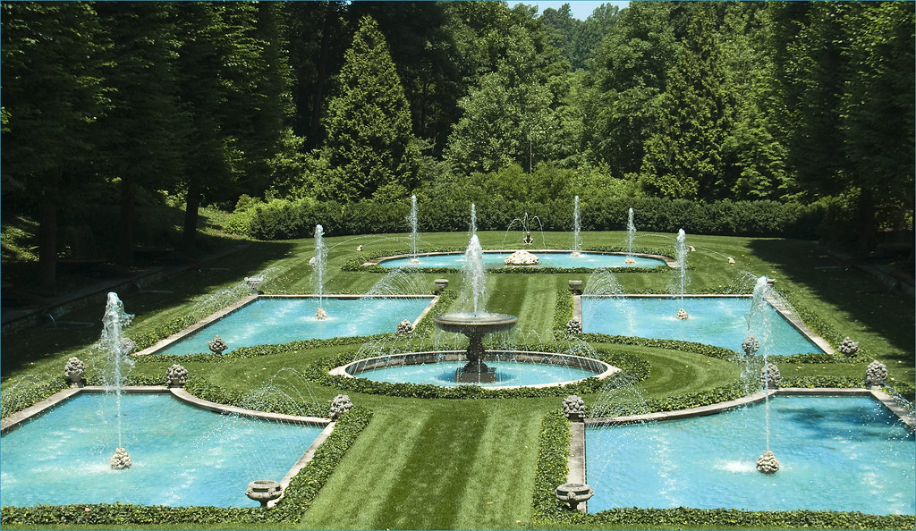 ... Fountains At The Italian Water Garden    Longwood Gardens Kennett  Square (PA) June