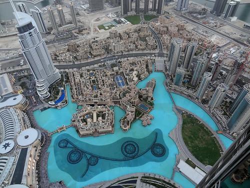 At The Top  View From Burj Kahalifa  Dubai Fountain And Ho