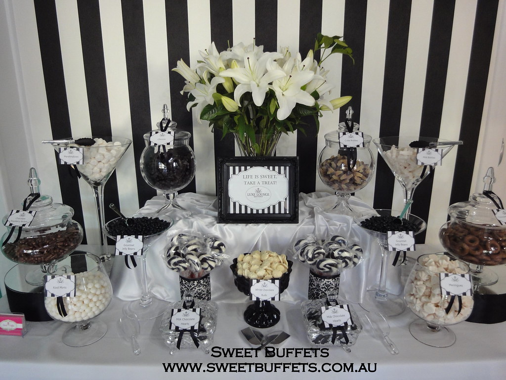 Black And White Lolly Buffet Sweet Buffets Flickr