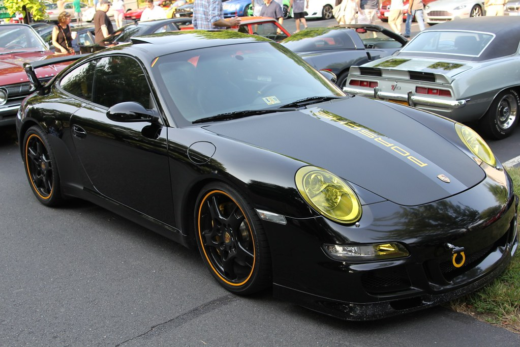 Black 997 Carrera With Porsche Tequipment Aerokit Cup Flickr