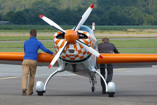 Extra 300L D-EXIR pushed for refuelling | by ErikBrouwer