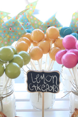 Colorful Lemon Cake Pops | by Sweet Lauren Cakes