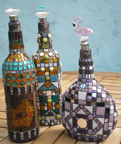 Mosaic bottles01 | by Anja Berkers - mosaics and mixed media art