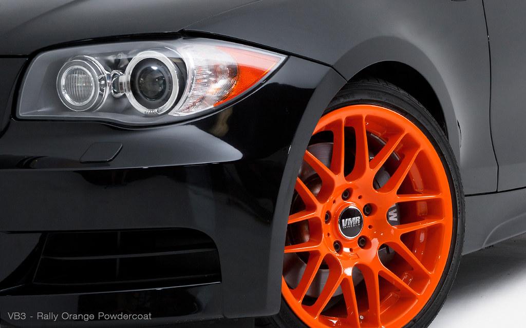 Vmr Wheels 18 Quot Rally Orange Vb3 On Brilliant Black E82 B