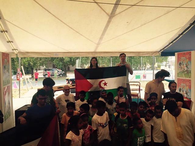 Con i bimbi Saharawi ai  Mondiali Antirazzisti