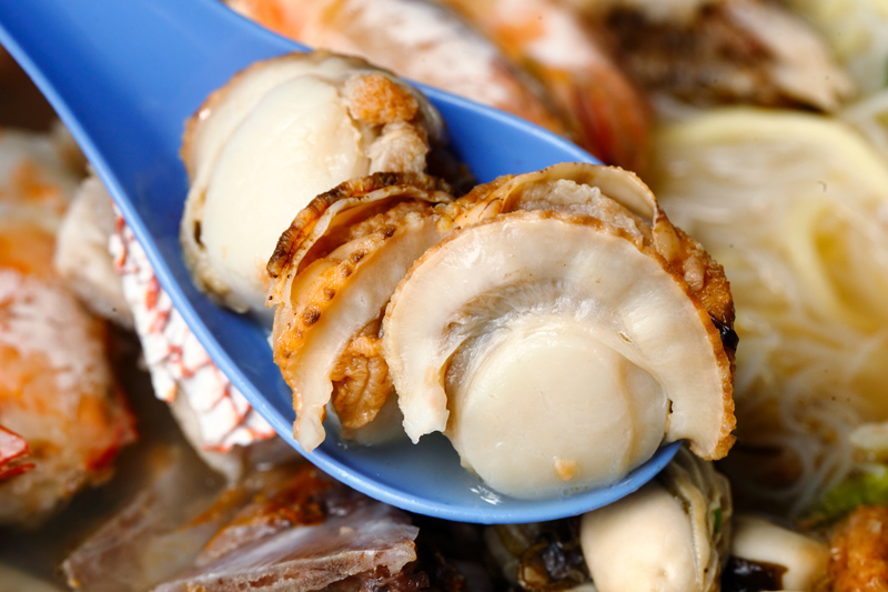 Scallops in Seafood Noodle