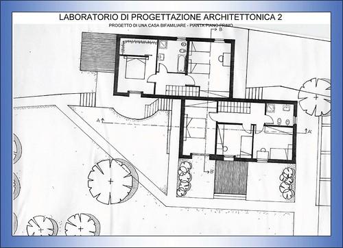 Progettazione architettonica 2 casa bifamiliare pianta flickr - Software progettazione casa gratis ...