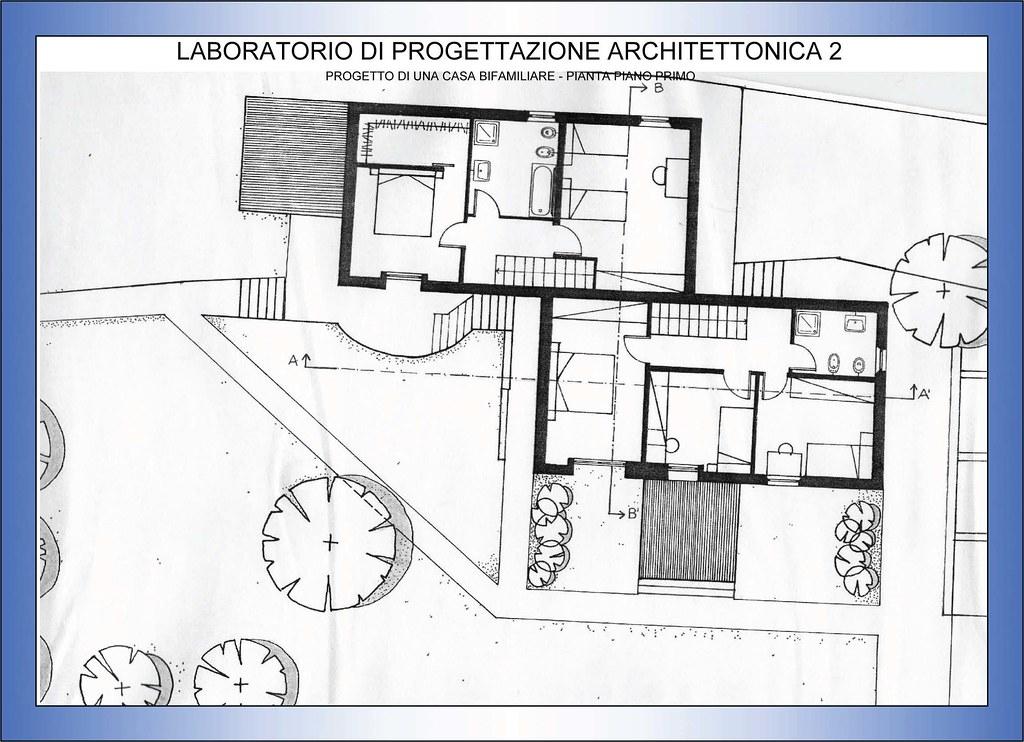 Progettazione architettonica 2 casa bifamiliare pianta flickr - Progettazione esterni casa ...