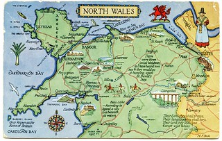 Postcard map of North Wales | by Alwyn Ladell