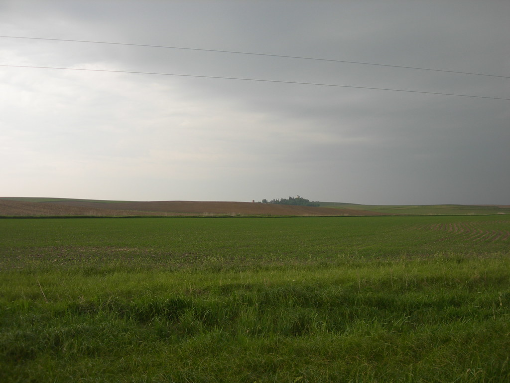 An Iowa Thunderstorm Line Us Hwy 30 West Of Carroll