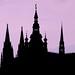 Castle silhouette, Prague