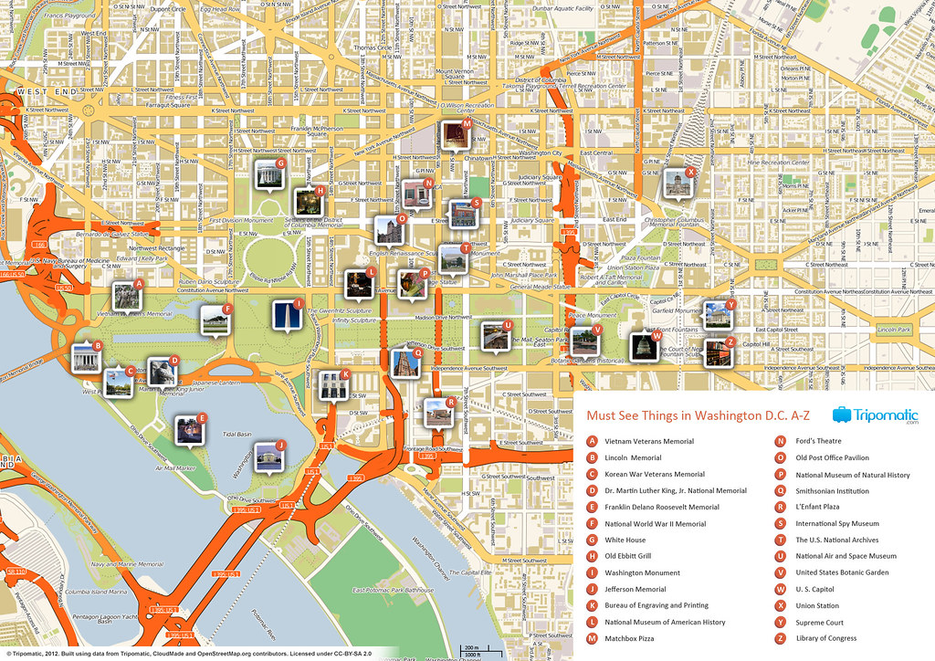 Amazing image throughout printable map of dc