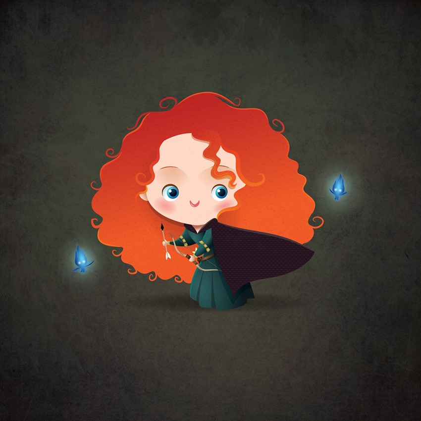 Kawaii Merida - Brave | My kawaii take on Pixar's Princess ...