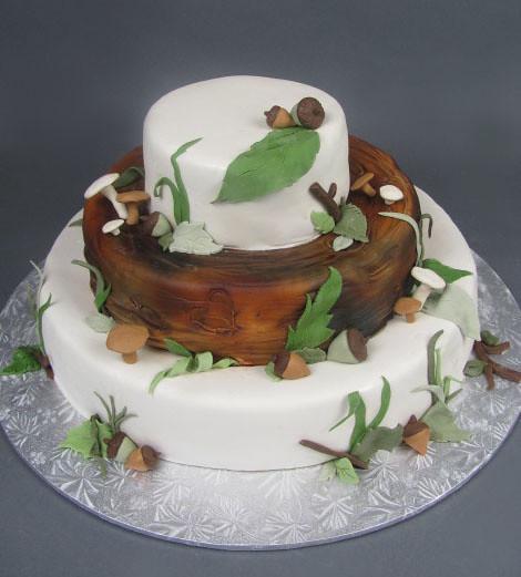 Woodsy Wedding Cake