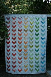 rainbow chevron finished! | by Leigh - leedle deedle quilts