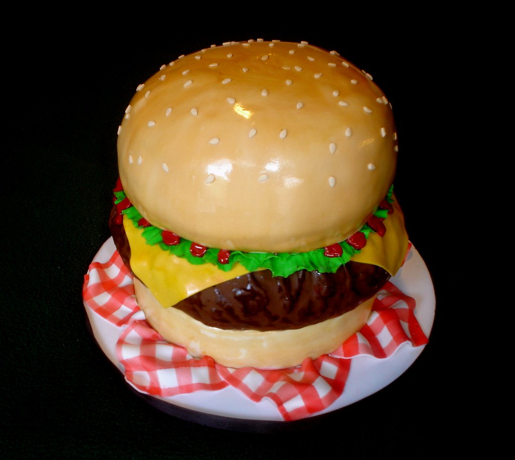 Hamburger Cake | A fun cake to make this was for the wedding… | Flickr