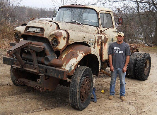 New Gmc Truck >> Paul's Rusted Out Big NAPCO 1956 GMC 550 former Township S… | Flickr
