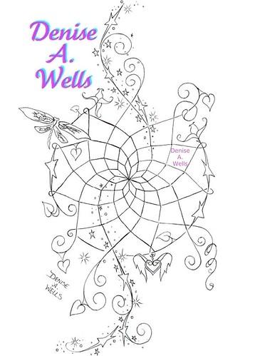 dreamcatcher tattoo design by denise a wells dream magic flickr. Black Bedroom Furniture Sets. Home Design Ideas