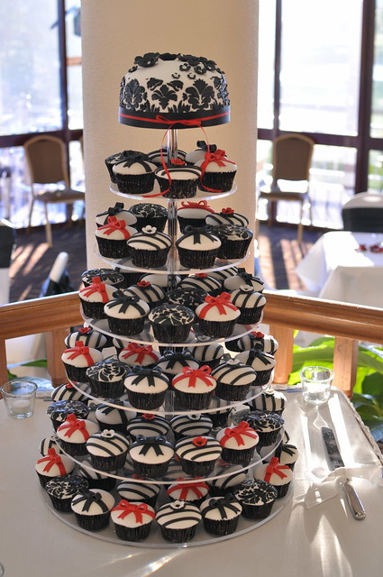 red black and white wedding cupcakes flickr photo