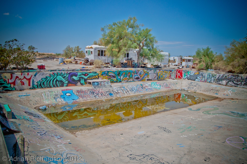 Slab City Skate Park Once And Old Swimming Pool Built Flickr