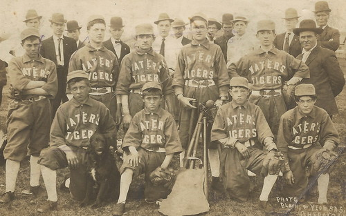 NE Cheboygan Waters MI RARE RPPC BASEBALL BEEN BERRY BERRY GOOD TO ME The Waters Tigers Photographer BLAIN & YEOMANS Lower Corner NBD bend1
