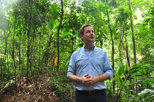 Nick Clegg at Tijuca Forest | by UK in Brazil