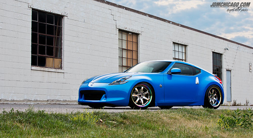 Nissan 370z (Monterey Blue) on Gram Light 57s Pro | by synth19