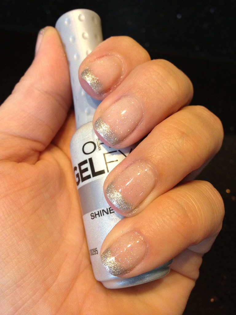 Orly Gel FX Kiss the Bride with Orly Gel FX Shine tips, to… | Flickr