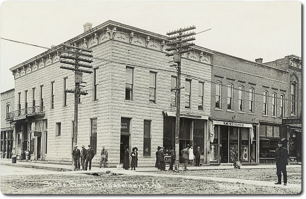 State Bank Rensselaer Indiana C1910 Postcard View Of