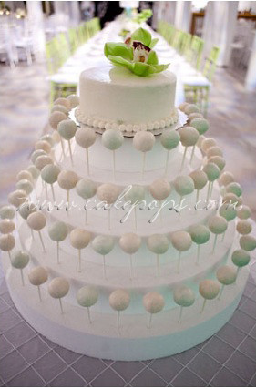 Cake Pop Wedding Display