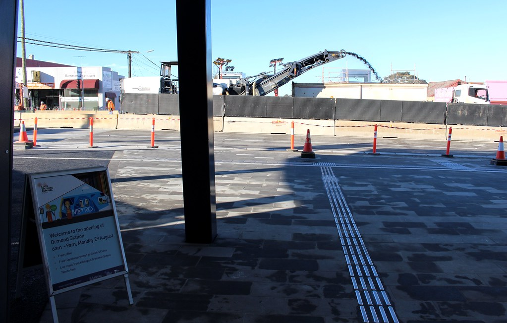 Ormond station works continue on opening day