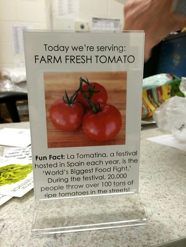 Signage with vegetable names at Chicopee Public Schools