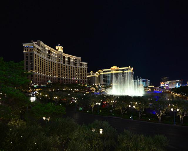 Hotel Bellagio de las Vegas y su fuente, uno de las mejores cosas que ver en Estados Unidos y la Costa Oeste