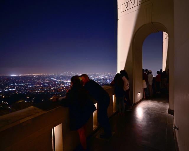 Mirador del observatorio Griffith de Los Angeles, uno de los sitios más mágicos de la Costa Oeste