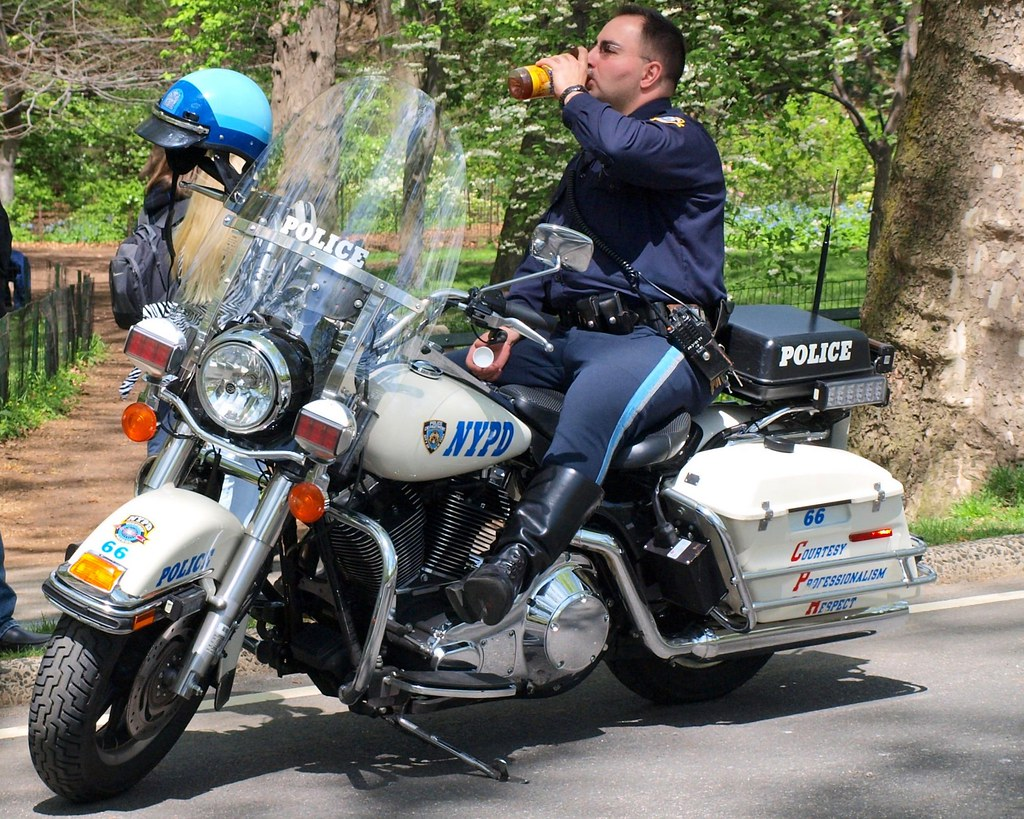Nypd Motorcycle Police Officer Central Park New York Cit