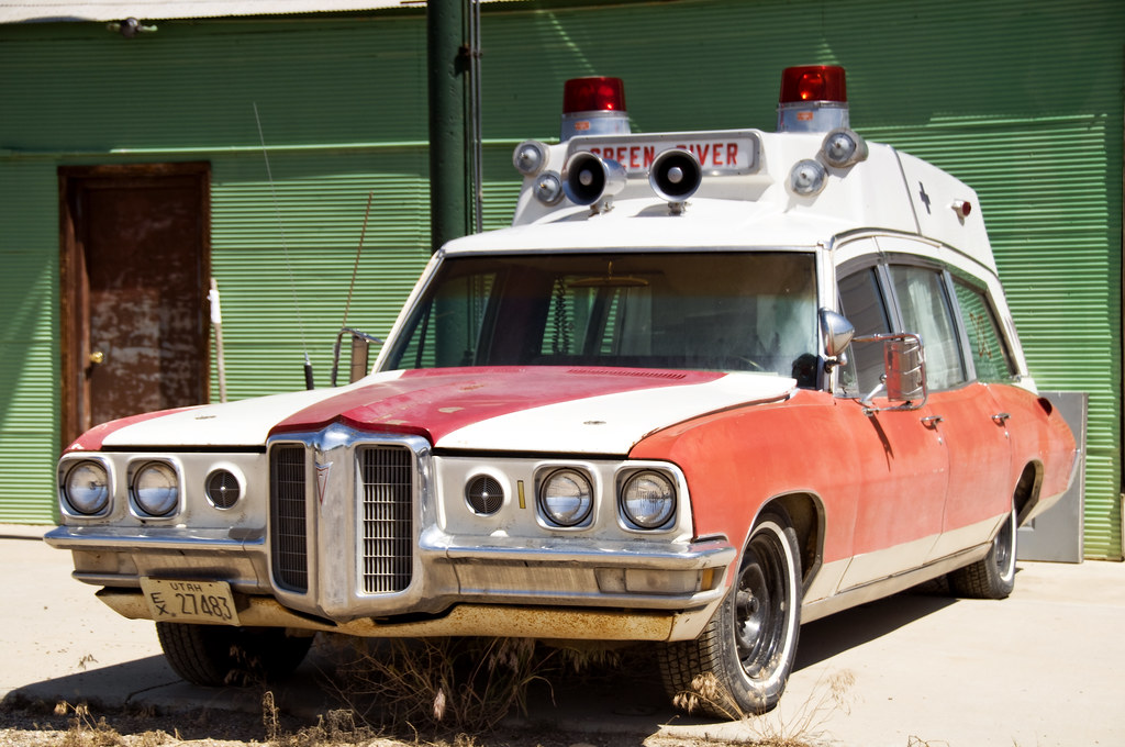 1970 Pontiac Ambulance Green River Utah Curtis Perry