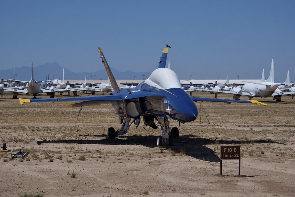 Us Navy Blue Angels >> Boeing F-18B Super Hornet, Mothballed, AMARG Boneyard | Flickr