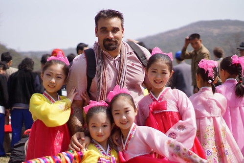 With Girls at a Pyongyang Festival | by Joseph A Ferris III