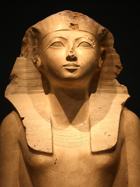 Detail of a Seated Statue of Hatshepsut | Flickr - Photo ...