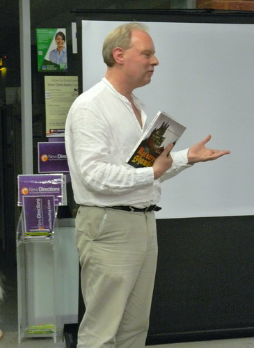 May 19th, 2012 Chris Rhodes at Reading Libraries Local Authors Day | by karenblakeman