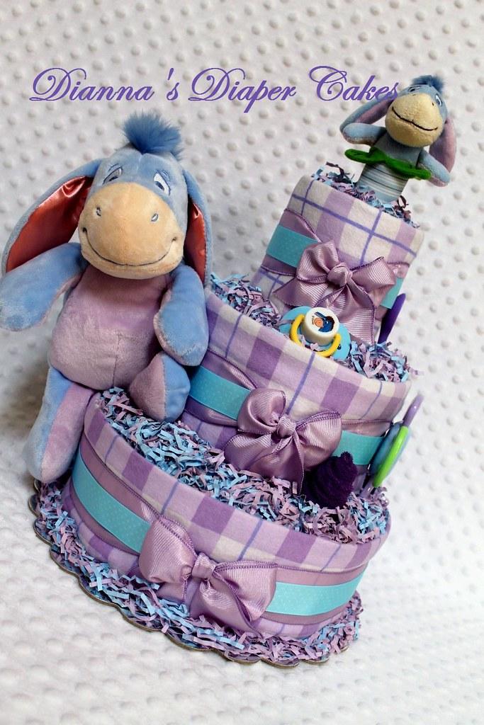 Eeyore Baby Diaper Cake Shower Centerpiece Www