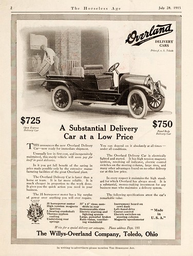 1915 Overland Open Express Delivery Car | by aldenjewell