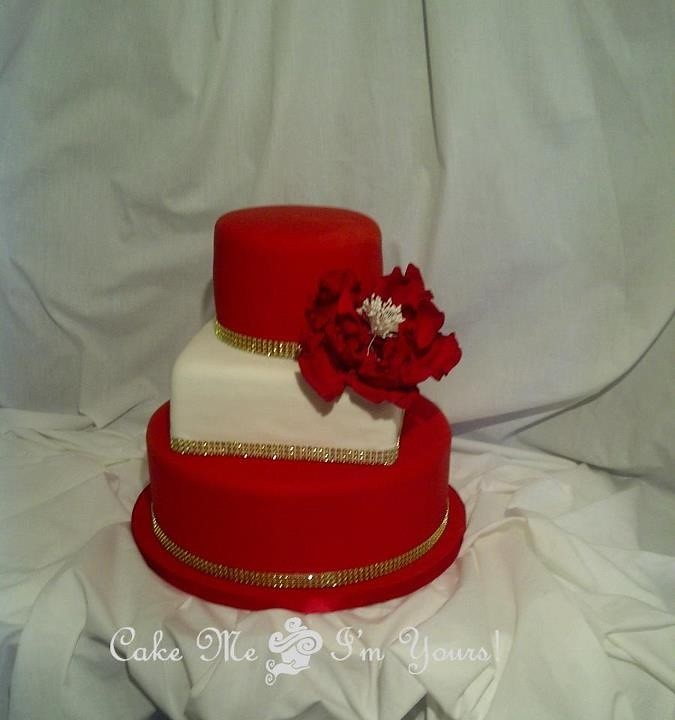 red and gold wedding cake ideas white gold wedding cake flickr 19078