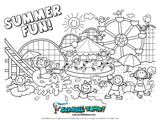 summer_coloringpage | by Scribble Town!