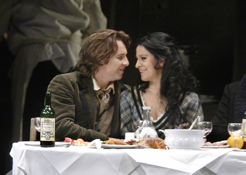 Roberto Alagna as Rodolfo and Angela Gheorghiu as Mimi in La bohème © Catherine Ashmore/ROH 2012 | by Royal Opera House Covent Garden