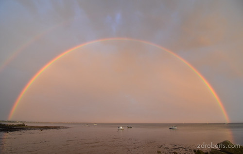 Double Rainbow at Sunset in Provincetown | by zroberts