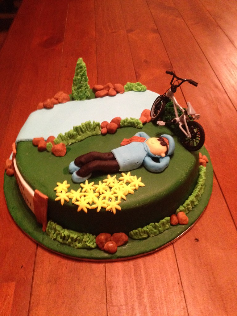 Bicycle And Outdoor Birthday Cake Marble Mudcake Covered I Flickr