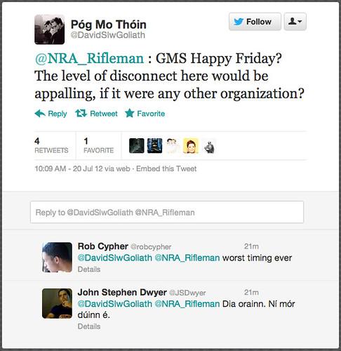 Twitter Responds To Tasteless NRA Tweet After Batman Color