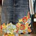 Fabric Collage Embellished Skirt